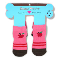 Apple Print Non-Skid Dog Socks