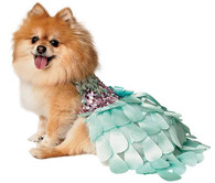 Glitter Ombre Sequin Mint Green Petal Dog Dress by Orostani Couture