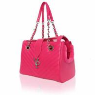 Vanderpump Monogramme Chain Pet Carrier – Pink