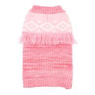 Pink Boho Fringe Sweater