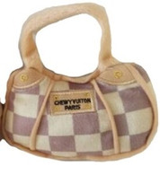 Checker Chewy Vuiton Purse Tiny Toy