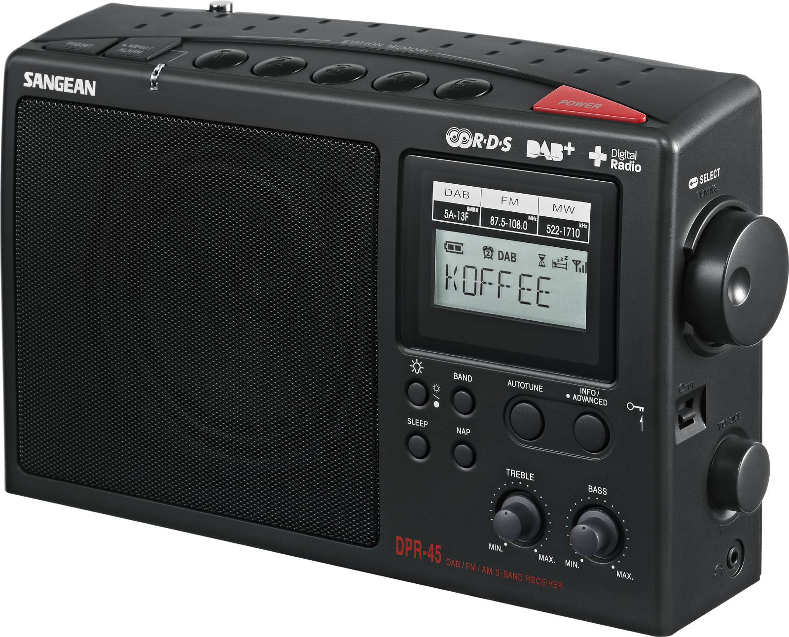 sangean am dab fm rds portable digital radio av. Black Bedroom Furniture Sets. Home Design Ideas