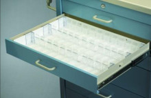 Drawer Divided Kit, 33 Ampule Holders