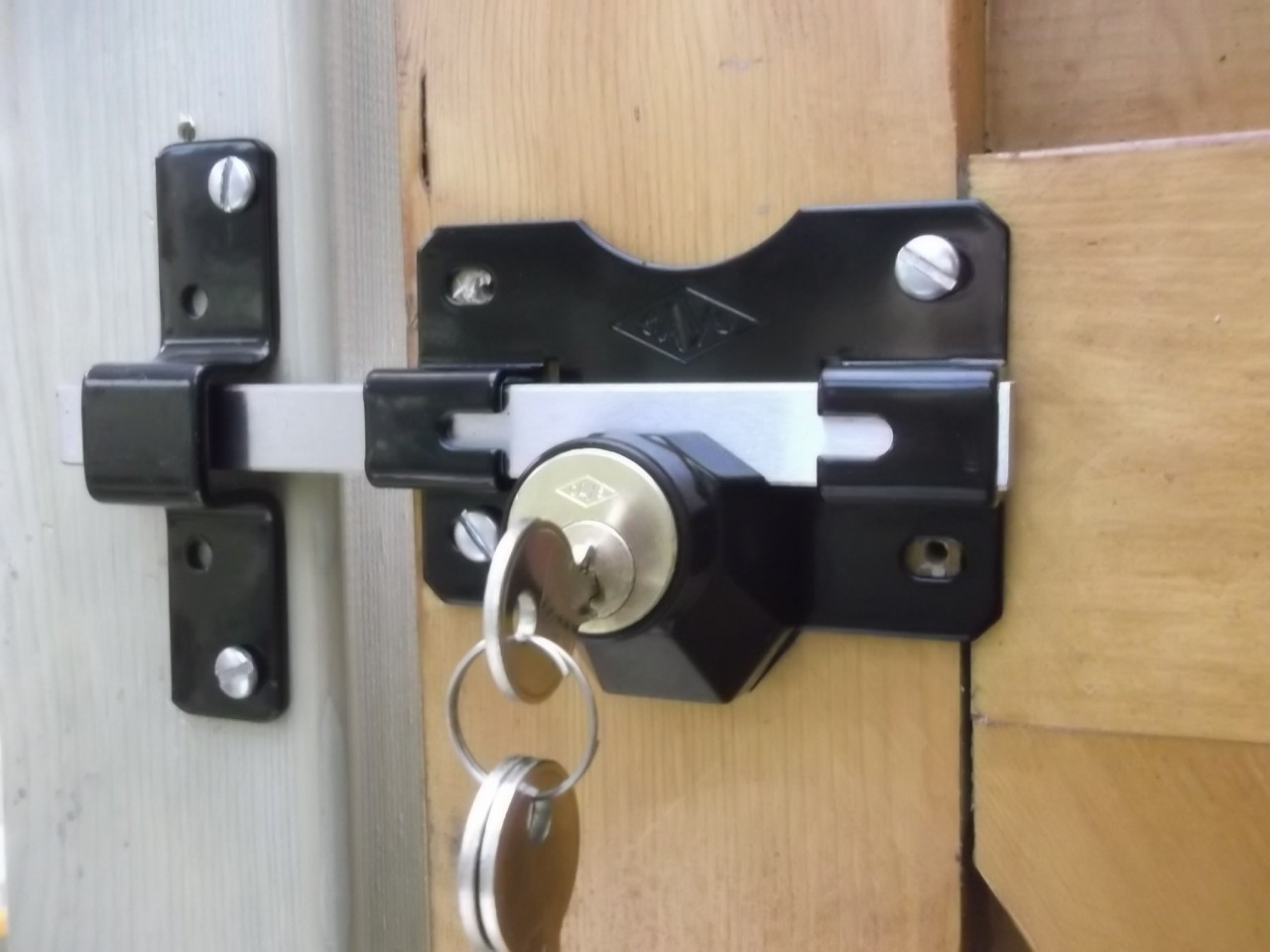 5abe219f4b3 Photo showing Double Locking Long ThrowGate Lock with Marine Grade  Stainless Steel Bolt fitted to gate