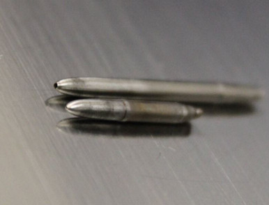 Rounded Taper end with or without thru hole.