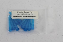 Polypropylene taper-tip set of 10 replacement needs, standard gauge 22 shown (p/n 100-10-16-22).