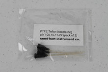 PTFE Teflon Dispensing Needle set of three, shown in standard gauge 22 (p/n 100-10-17-22).
