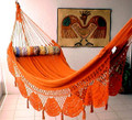 HAMMOCK COUPLES TERRACOTTA - Mustard & Orange Sprang Woven Nicamaka (Back Order)