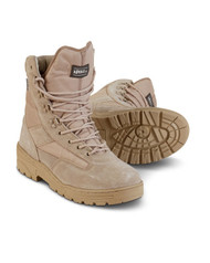 Desert Patrol Boots Half Suede Half Cordura for army cadets Military in sand colour