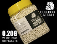 bulldog pellets 10000 x 0.20g tub in white