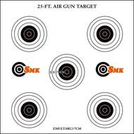 SMK Card Air Gun Target Multi x 100pc x 17cm