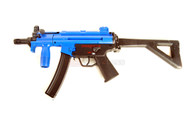 Galaxy G5 MP5 replica with folding stock and Metal Gearbox in blue
