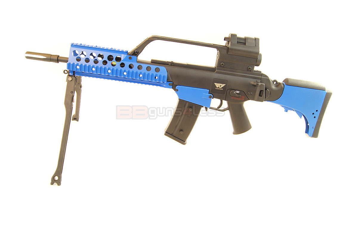 JG G36 KV Tactical Style Airsoft rifle in Blue