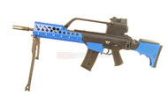 JG G36 KV Tactical Style Airsoft rifle in Blue.