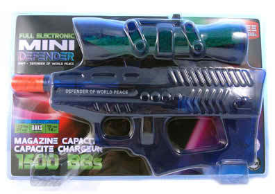 Defender of World Mini Electric Airsoft Gun blue