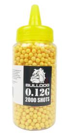 Bulldog Pellets 2000 x 0.12g Bottle - Yellow