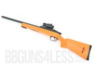 Double Eagle M50A Airsoft BBGun Sniper Rifle in Orange