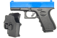 Galaxy G15H Glock 17 Full Metal Pistol with Holster in Blue