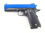 Galaxy G25 K Warrior Full Scale Metal pistol With Rail Blue