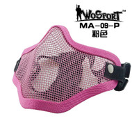 Wo Sport V1 Strike Steel Half Face Mask (Two Belt Version) Pink