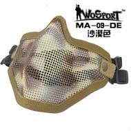 Wo Sport V1 Strike Steel Half Face Mask (Two Belt Version) Desert