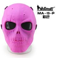 Wo Sport Skull Plastic Mask V1 (Round Mesh) Pink
