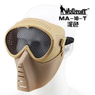 Wo Sport Small Flying Mask with Mesh Goggle (Steel Mesh) Tan