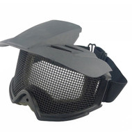 BV Tactical Desert Locust Mesh Goggles Include Sunshade Black