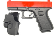 Galaxy G15H Glock 17 Full Metal Pistol with Holster in Red