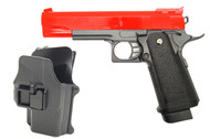Galaxy G6H M1911 Full Metal Pistol with Holster in Red