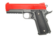 Galaxy G25 K Warrior Full Scale Metal Pistol with Rail in Red