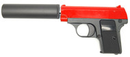 Galaxy G1A Full Metal BB Gun with Silencer in Red