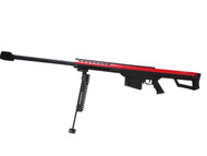 Barrett M82A1 Bolt Action Sniper Rifle in Red & Black