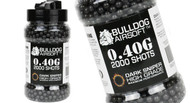 Bulldog BB Pellets 2000 x 0.40g Bottle in Black