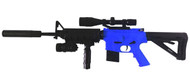 Cyma P1158D Spring Powered M16 with Tactical Stock in Blue