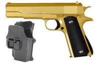 Galaxy G13H Full Metal BB Gun in Gold inc Holster