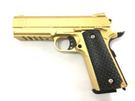 Galaxy G25 K Warrior Full Scale Metal pistol With Rail Gold