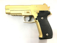 Galaxy G26 P226 Full Scale Metal Pistol with Rail in Gold