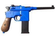 Well G196 (M712) Co2 airsoft pistol in blue