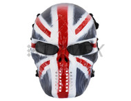 Airsoft mask in uk flag skull design