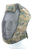"WoSport Steel Mesh ""Striker"" Gen3  Full Face Mask in Digital Woodland"