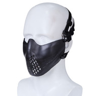 Wo Sport Half Face Pilot Airsoft Mask V3 (Black)