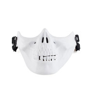 Wo Sport Half Face Skull Plastic Airsoft Mask V3 (White)