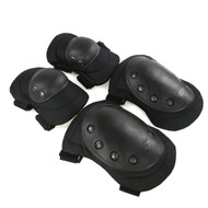 Wosport Tactical Elbow & Knee Pad Set (Black) (PA-04)