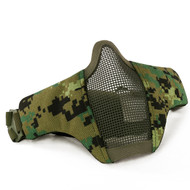 Wosport Half Face WST Steel Mesh Airsoft Mask (AOR2 Camo)