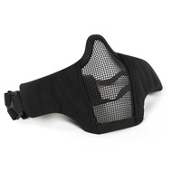 Wosport Half Face WST Steel Mesh Airsoft Mask (Black)