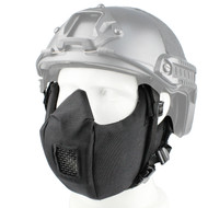 Wosport Half Face V5 Conquerors Airsoft Mask (Black)