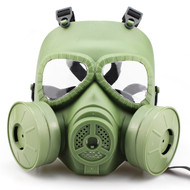 WoSport Air Filtration Gas Mask with Twin Fans (Olive Drab)