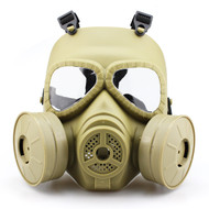WoSport Air Filtration Gas Mask with Twin Fans (Desert Tan)