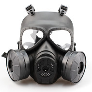 WoSport Air Filtration Gas Mask with Twin Fans (Black)